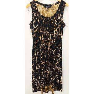 Nine West leopard high low maxi dress